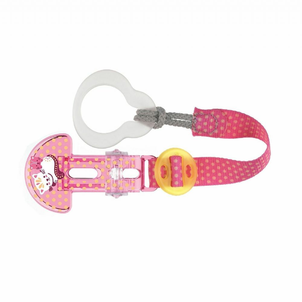 MAM Clip it and Teat Cover Pink Cat